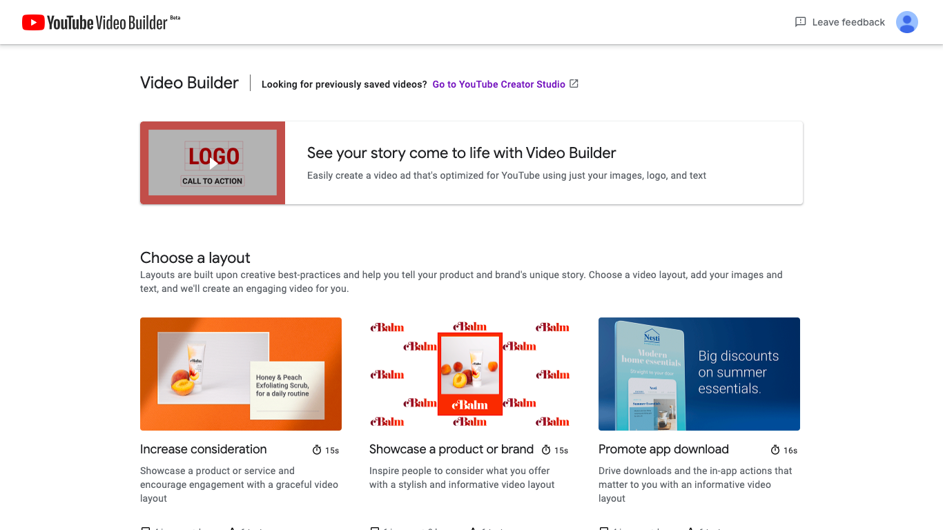 動画共有サイトYouTubeが提供する動画制作サービス【YouTube Video Builder】
