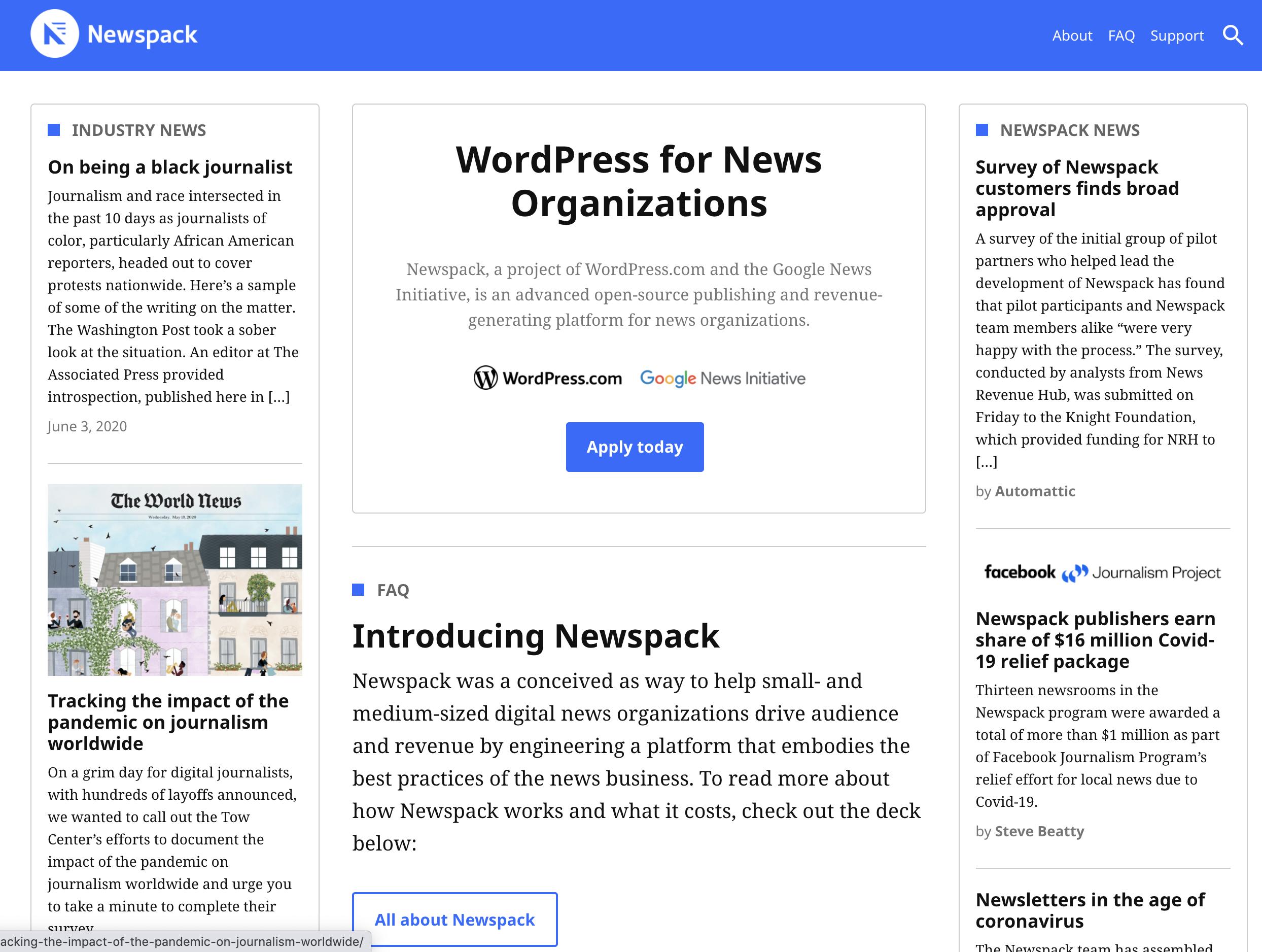 簡単にメディアを作り、収益化も可能になるプラットフォーム【Newspack】