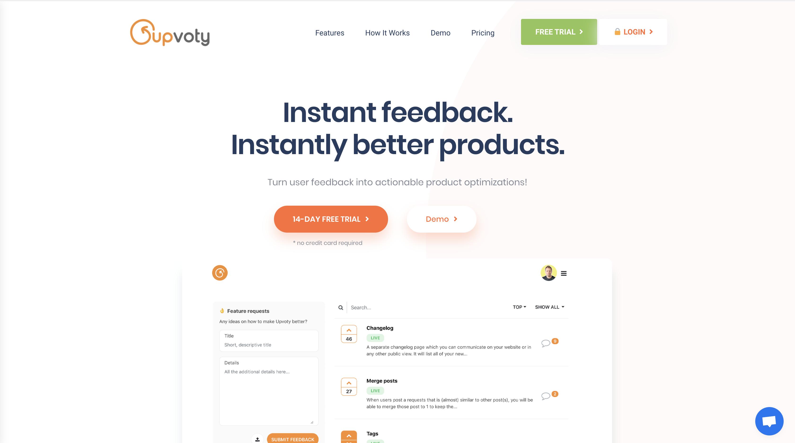 ユーザーから簡単にフィードバックを集め、プロダクトづくりに活かせるサービス【upvoty】