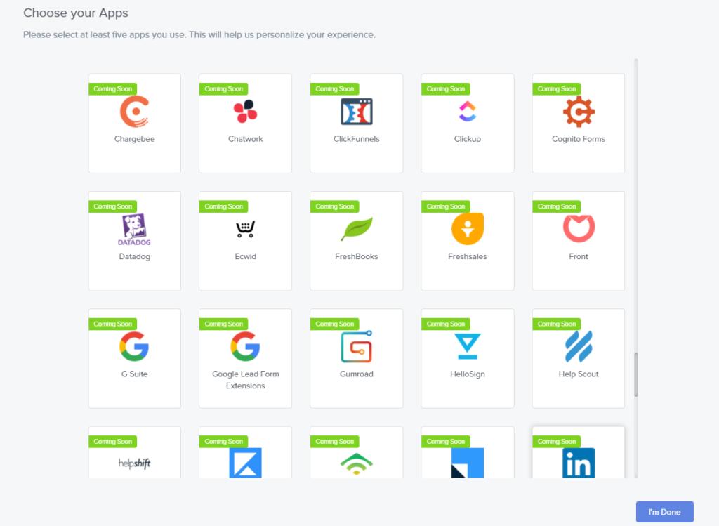 automateと連携予定のアプリ一覧