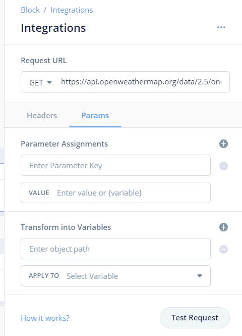 APIの入手先アドレスを入力します