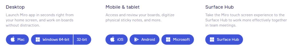デスクトップアプリ・モバイルアプリも充実