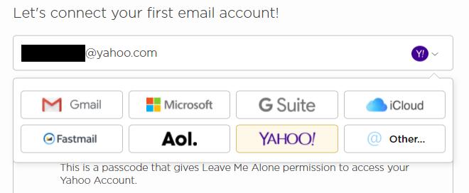 LeaveMeAlone対応メールアカウント
