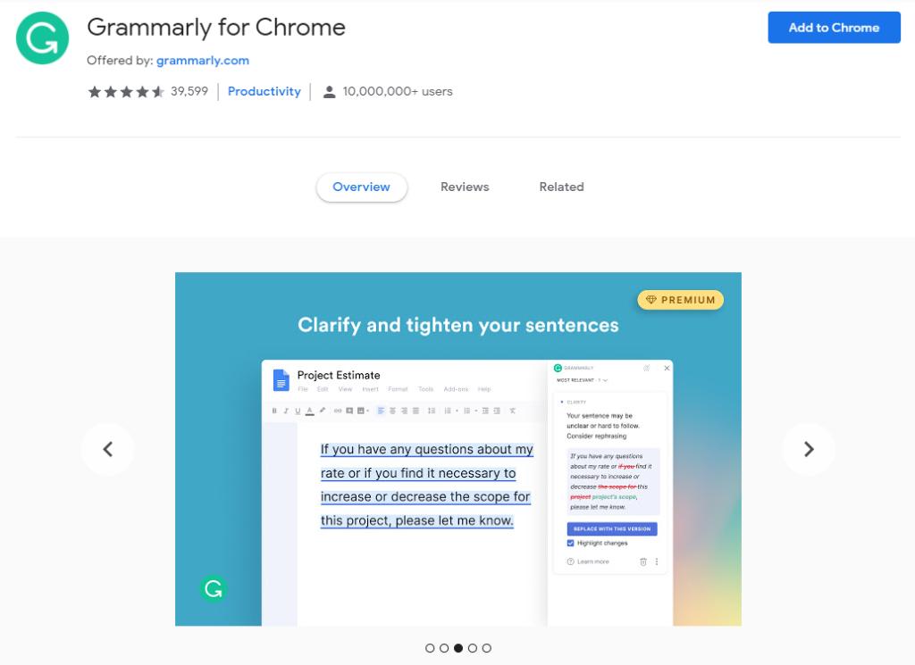 Chromeウェブストアから入手