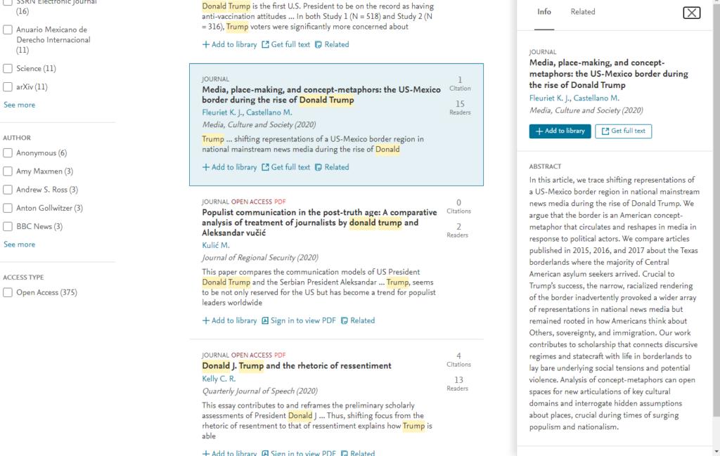 論文の検索結果