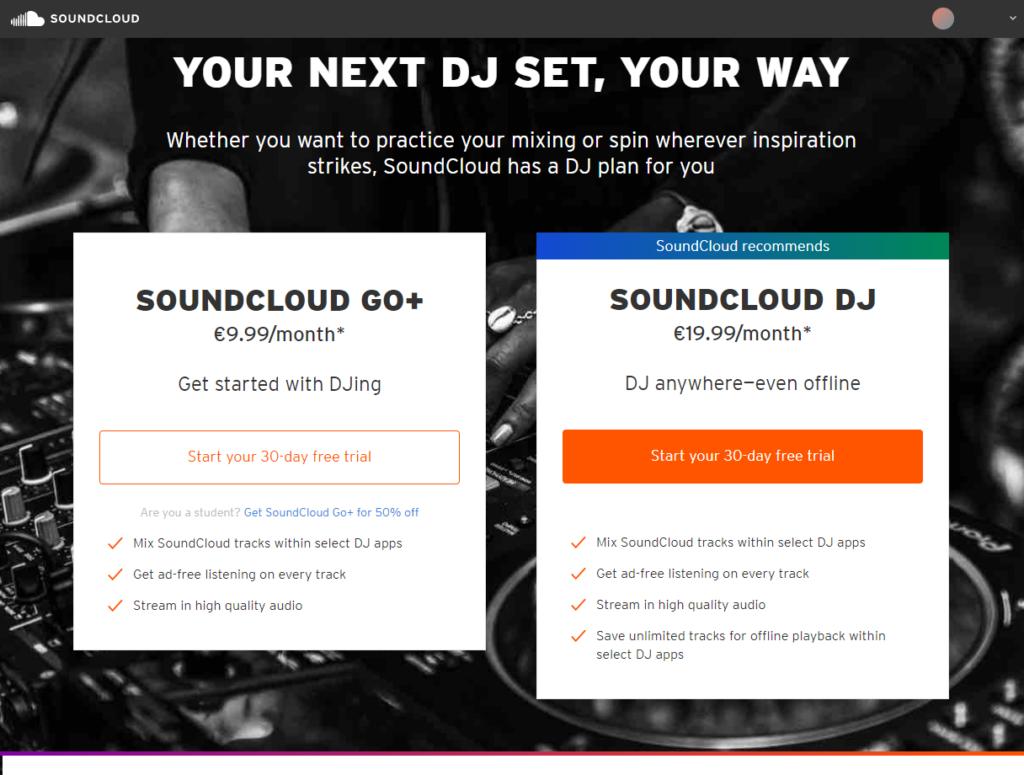 soundcloud DJtool料金