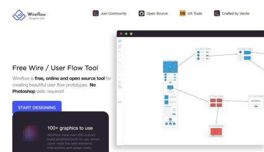 テンプレートで作る!Webデザインのワイヤーフレーム作成ツール【Wireflow】